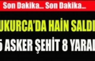 ÇUKURCA'DA HAİNS ALDIRI 5 ASKER ŞEHİT 8 ASKER...