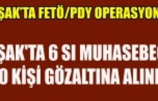 UŞAK'TA 6 SI MUHASEBECİ 10 KİŞİ GÖZALTINA...
