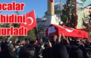 HOCALAR ŞEHİT KAMİL TUNÇ'U SON YOLCULUĞUNA...