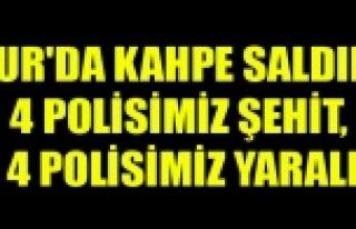 DİYARBAKIR'DA KAHPE SALDIRI 4 POLİSİMİZ ŞEHİT,...