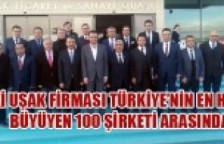İKİ UŞAK FİRMASI TÜRKİYE'NİN EN HIZLI BÜYÜYEN...