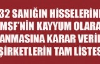 İŞTE KAYYUM ATANMASINA KARAR VERİLEN ŞİRKETLERİN...