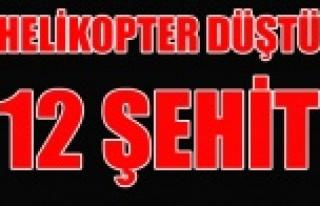 TUNCELİ'DE HELİKOPTER DÜŞTÜ 12 ŞEHİT