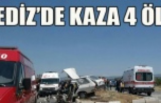 GEDİZ DE TRAFİK KAZASI 4 KİŞİLİK AİLE YOK OLDU