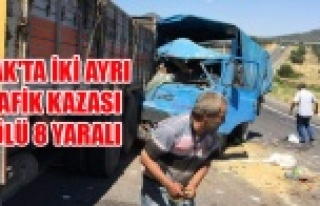 UŞAK'TA İKİ AYRI TRAFİK KAZASI 1 ÖLÜ 8...