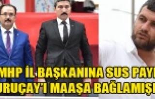 MHP İL BAŞKANI AK PARTİLİ BELEDİYENİN PARALI...