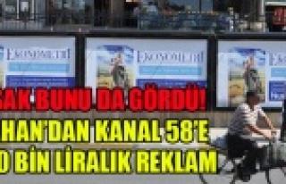 UŞAK BELEDİYESİNDEN KANAL 58'E PARA POMPALAMAYA...