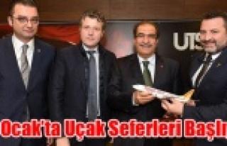 UŞAK- İSTANBUL UÇAK SEFERLERİ 22 OCAK'TA...