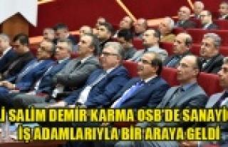 Vali Salim Demri Karma OSB'de Sanayici ve iş...