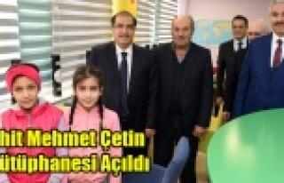 Şehit Mehmet Çetin Z-Kütüphanesi Açıldı