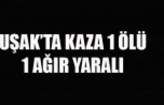 UŞAK'TA OTOMOBİL TIR'IN ALTINA GİRDİ...
