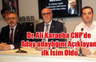 DR. ALİ KARAOBA CHP'DEN ADAY ADAYLIĞINI AÇIKLAYAN...