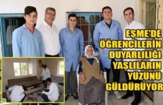 EŞME'DE ÖĞRENCİLERİN DUYARLILIĞI YAŞLILARIN...