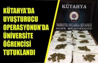 KÜTAHYA'DA UYUŞTURUCU OPERASYONUN'DA ÜNİVERSİTE...