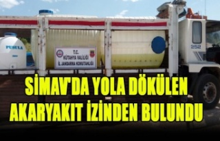 SİMAV'DA YOLA DÖKÜLEN AKARYAKIT İZİNDEN...