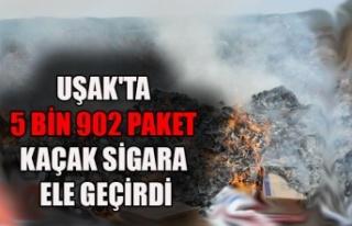 UŞAK'TA 5 BİN 902 PAKET KAÇAK SİGARA ELE...