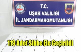 UŞAK'TA TARİHİ ESER OPERASYONU, 119 SİKKE...