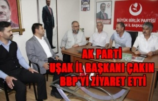 AK PARTİ UŞAK İL BAŞKANI ÇAKIN, BBP'Yİ...