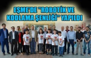 """EŞME'DE """"ROBOTİK VE KODLAMA ŞENLİĞİ""""..."""