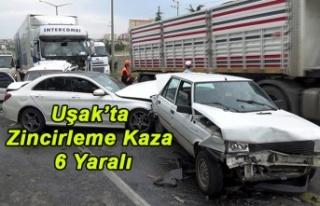 Uşak'ta Zincirleme Kaza 6 Yaralı