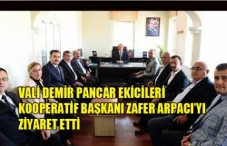 VALİ DEMİR PANCAR EKİCİLERİ KOOPERATİF BAŞKANI...