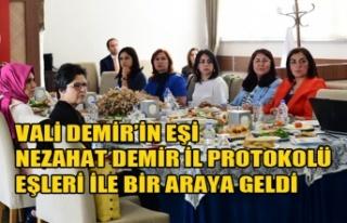 VALİ DEMİR'İN EŞİ NEZAHAT DEMİR İL PROTOKOLÜ...