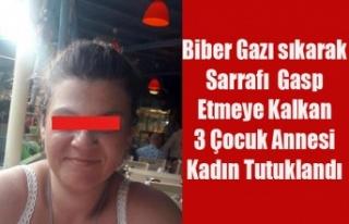 UŞAK'TA SARRAF'I GASP ETMEYE KALKAN GENÇ...