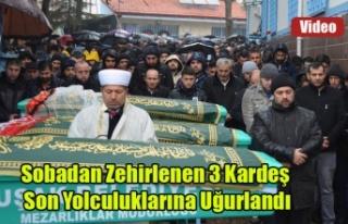 UŞAK'TA SOBADAN ZEHİRLENEN 3 KARDEŞ GÖZYAŞLARI...