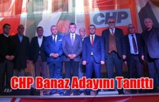 CHP Banaz Adayını Tanıttı