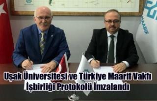 Uşak Üniversitesi ve Türkiye Maarif Vakfı İşbirliği...