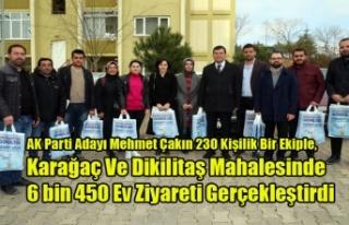 AK Parti Adayı Mehmet Çakın 230 Kişilik Bir Ekiple,...