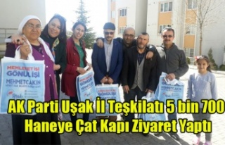 AK Parti Uşak İl Teşkilatı, 5 bin 700 Haneye Çat...