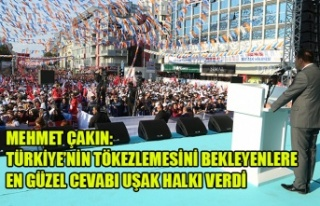 MEHMET ÇAKIN: TÜRKİYE'NİN TÖKEZLEMESİNİ BEKLEYENLERE...