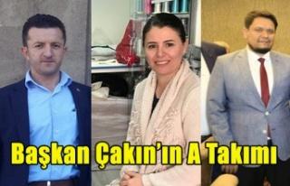BAŞKAN MEHMET ÇAKIN'IN A TAKIMINDA KİMLER...