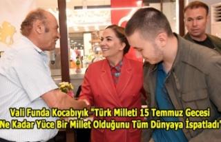 Türk milleti 15 Temmuz gecesi ne kadar yüce bir...