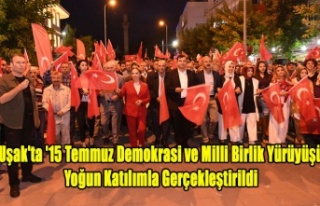 Uşak'ta '15 Temmuz Demokrasi ve Milli Birlik...