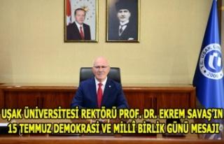 UŞAK ÜNİVERSİTESİ REKTÖRÜ PROF. DR. EKREM SAVAŞ'IN...