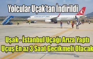 THY UŞAK İSTANBUL UÇUŞU UÇAK'TA Kİ ARIZA...