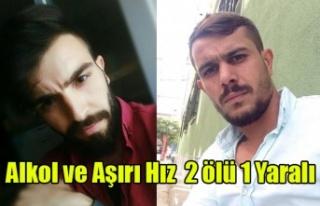UŞAK'TA ALKOL VE AŞIRI HIZ SONUCU KAZA 2 ÖLÜ...