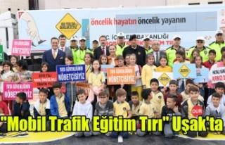 """""""Mobil Trafik Eğitim Tırı"""" Uşak'ta"""