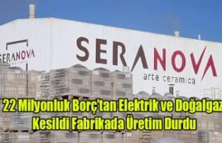 SERENOVA SERAMİK'DE 22 MİLYONLUK BORÇ NEDENİYLE...