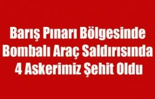 Barış Pınarı Bölgesinde Bombalı Araç Saldırısında...