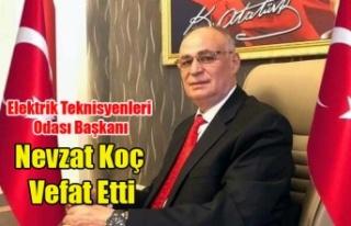 UŞAK ELEKTRİK TEKNİSYENLERİ ODASI BAŞKANI NEVZAT...