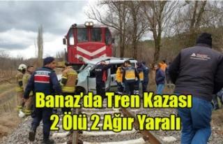 BANAZ'DA TREN KAZASI 2 ÖLÜ 2 AĞIR YARALI