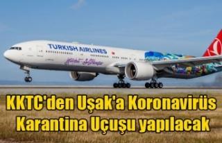 KKTC'den Uşak'a Koronavirüs Karantina...