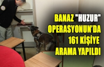 """Banaz """"huzur"""" operasyonun'da 161 kişiye arama yapıldı"""