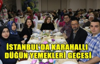 İSTANBUL'DA KARAHALLI DÜĞÜN YEMEKLERİ GECESİ