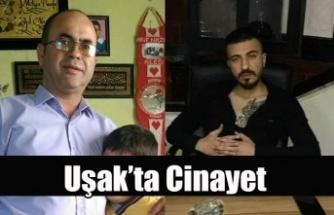 UŞAK'TA CİNAYET, TARTIŞTIĞI ELEMANINI ÖLDÜRDÜ