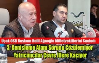 Uşak OSB Başkanı Halil Ağaoğlu Milletvekillerini Suçladı