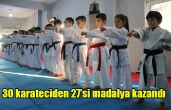 30 Karateciden 27'si Madalya Kazandı